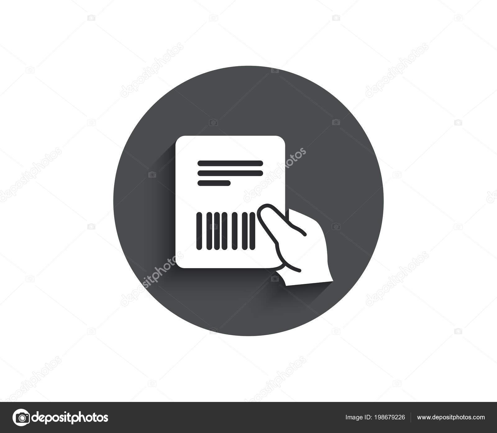 factuur eenvoudig Perceel Factuur Eenvoudig Pictogram Levering Document Ondertekenen