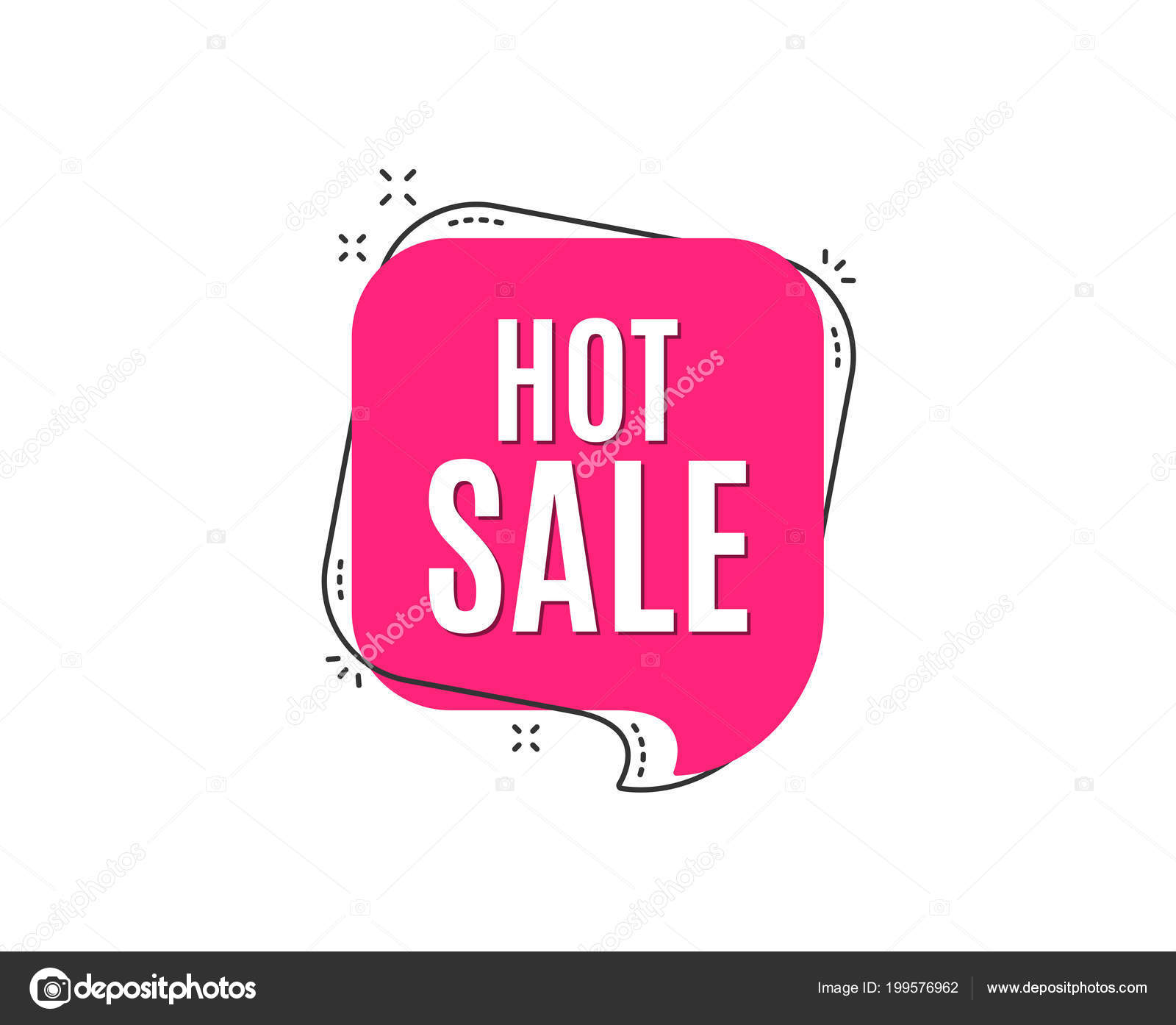 Hot Sale Icon Pink Bubble — Stock Vector © Blankstock #199576962