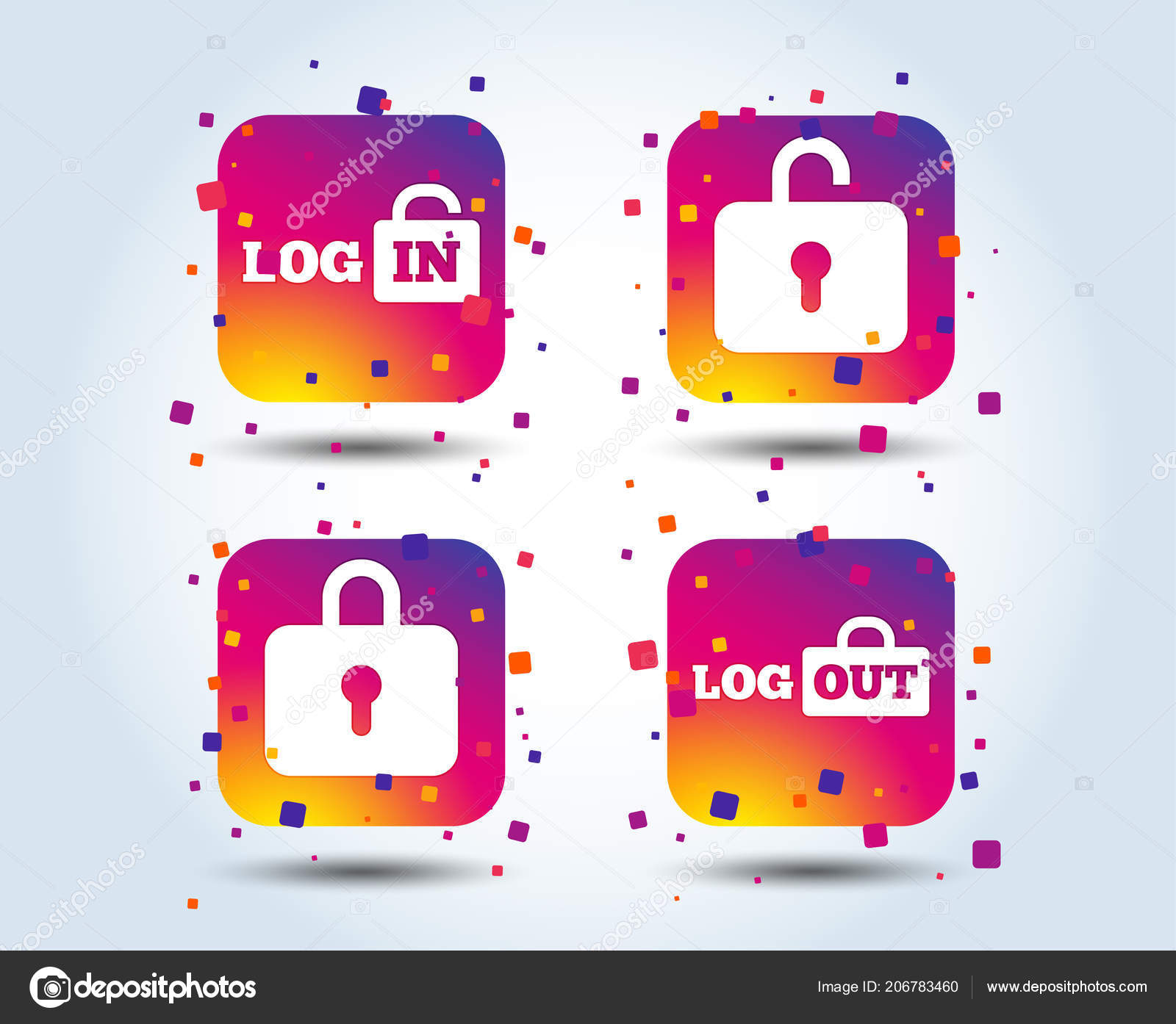 Login Logout Icons Sign Sign Out Symbols Lock Icon Colour