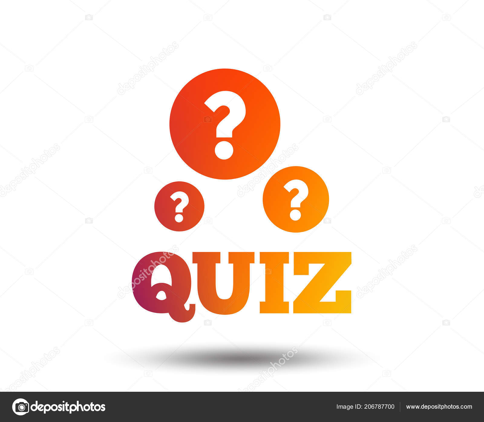 Quiz Question Marks Sign Icon Questions Answers Game Symbol Blurred