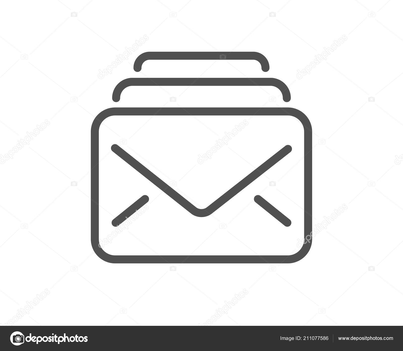 Mail Line Icon New Messages Correspondence Sign Mail Symbol Quality
