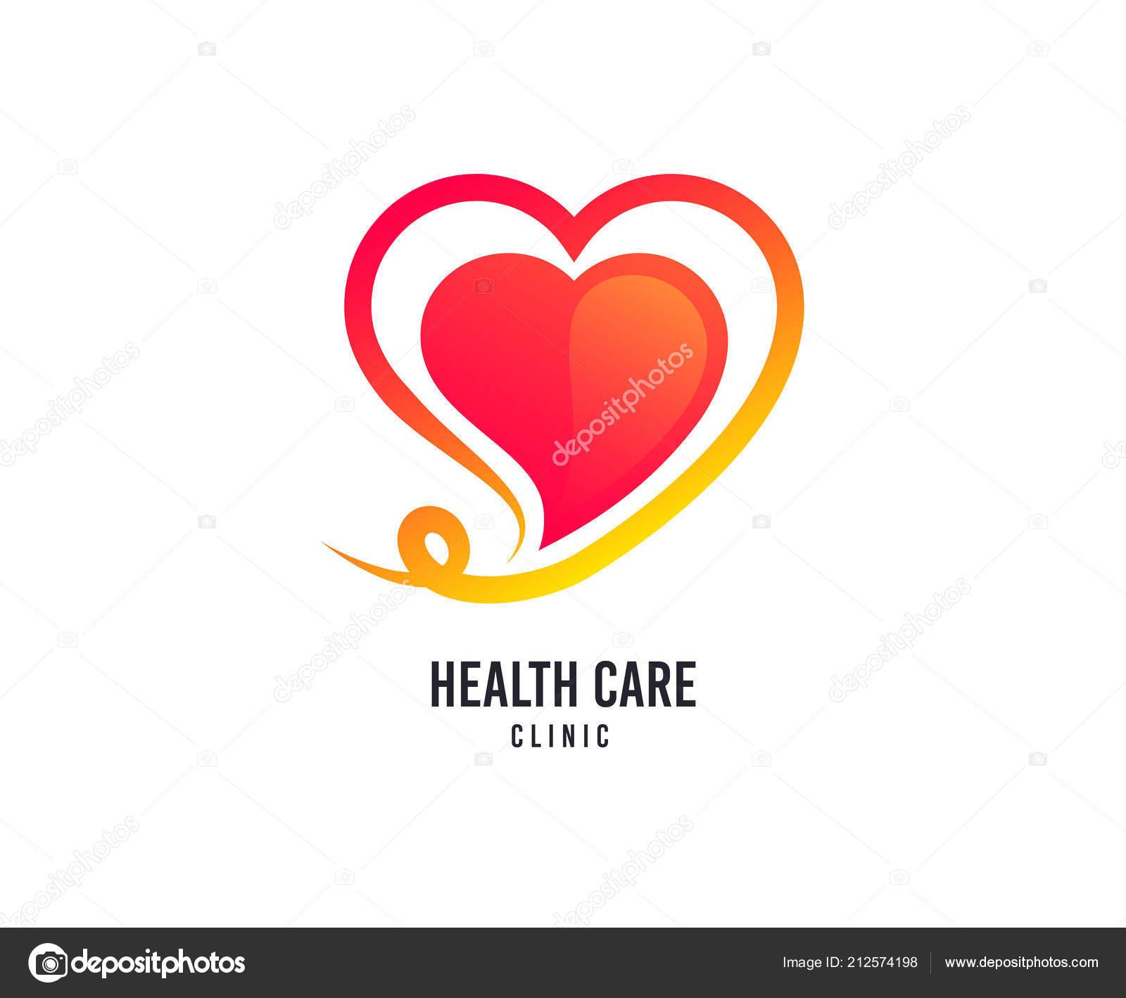 820f83e5c34e Сердце Логотип Здравоохранение Векторный Icon День Святого Валентина ...