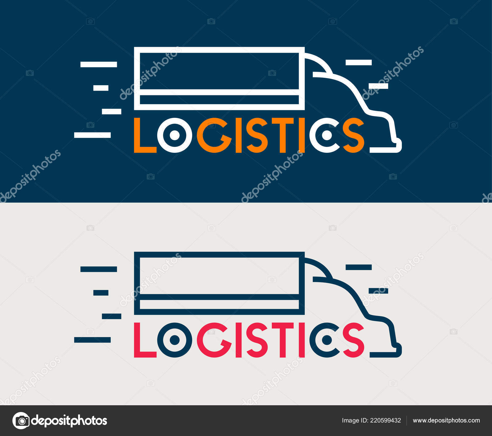 Logistics Icon Company Business Logo Truck Delivery Symbol