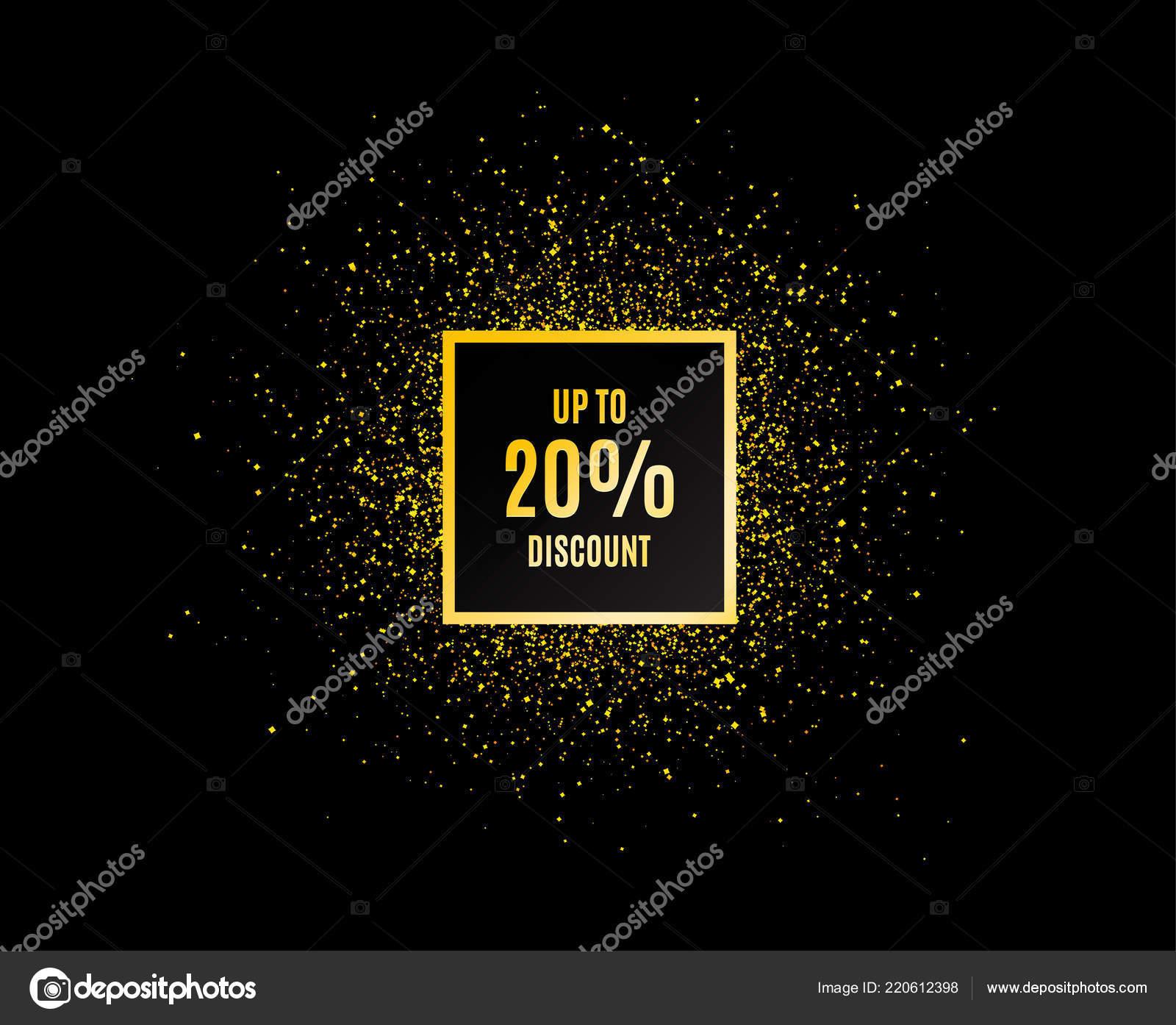 Goldglitter Banner Bis Rabatt Angebot Preis Verkaufsschild