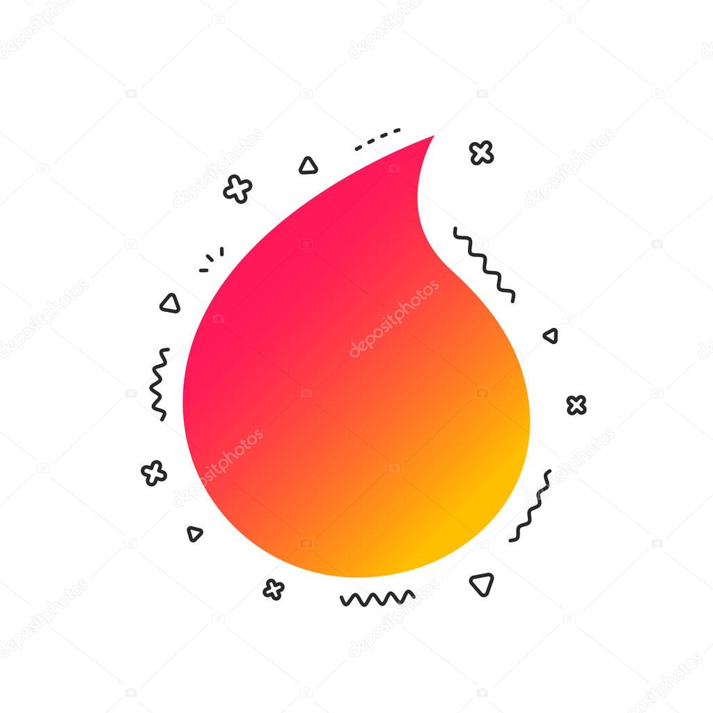 Water drop sign icon on white background