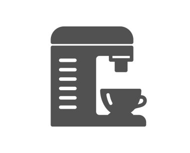 Coffee machine icon. Hot drink sign. Fresh beverage symbol. Quality design element. Classic style icon. Vector