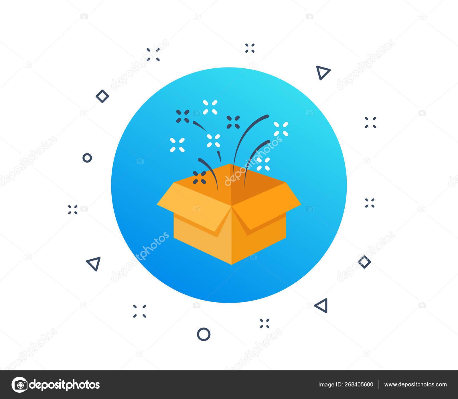 La Boite Jaune Prix présente, boîte cadeau jaune surprise. icône de célébration