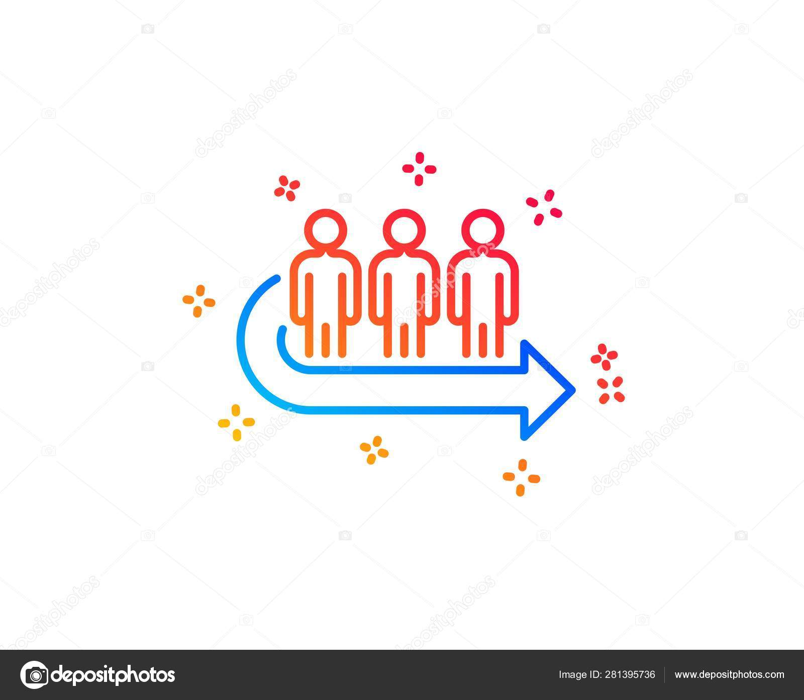 Queue line icon  People waiting sign  Vector — Stock Vector