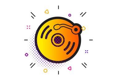 Vinyl record icon. Music sign. Vector
