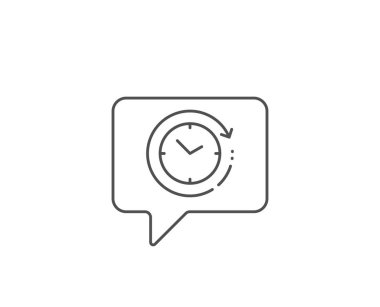 Time change line icon. Clock sign. Watch. Vector