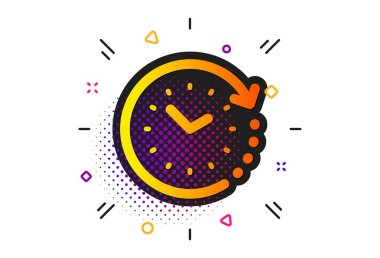Time change icon. Clock sign. Watch. Vector
