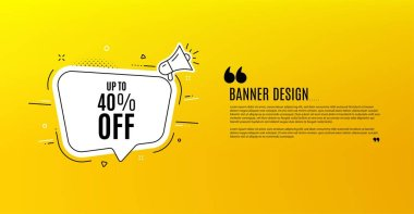 Up to 40% off Sale. Discount offer price sign. Vector