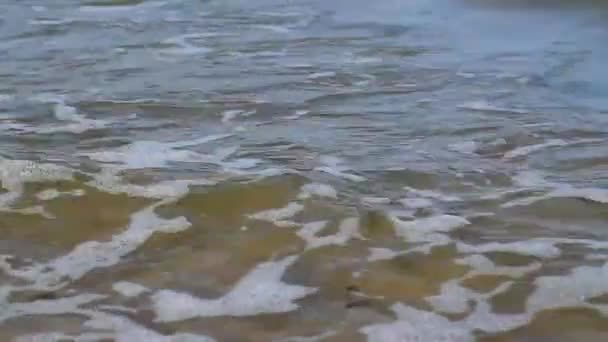 video of foamy sea water