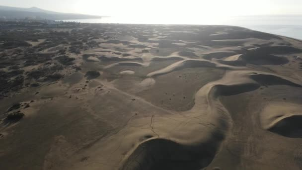 Dunes at Maspalomas seen from a drone