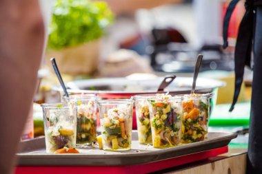 fresh homemade salad at festival