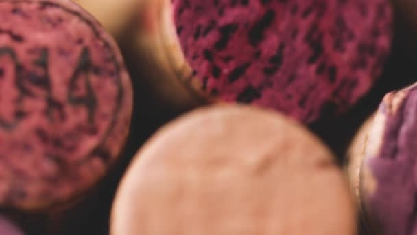 close-up view of used wine corks background