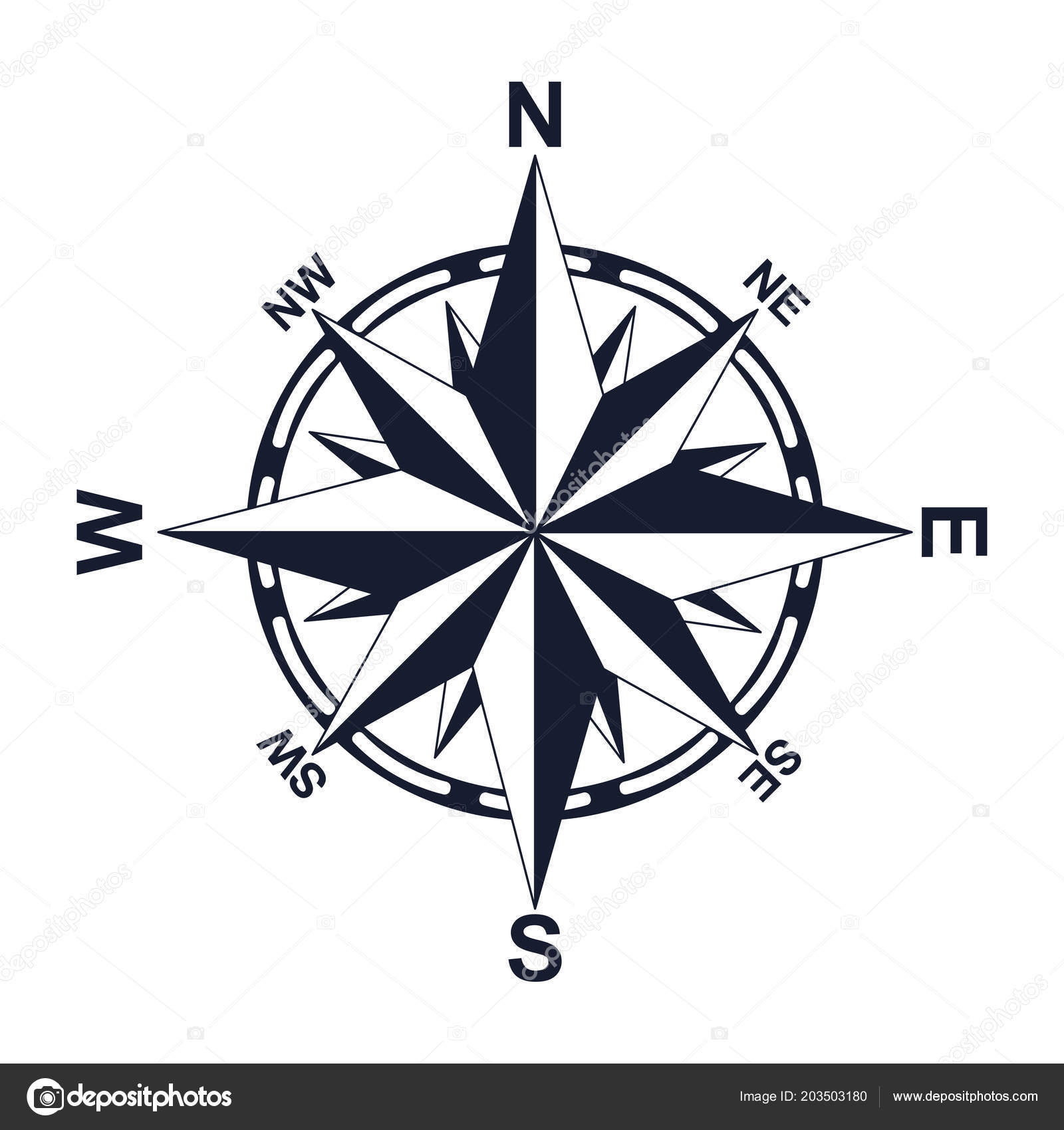 Compass. Direction. North West East South. For your design ... on ↗️  id=43535