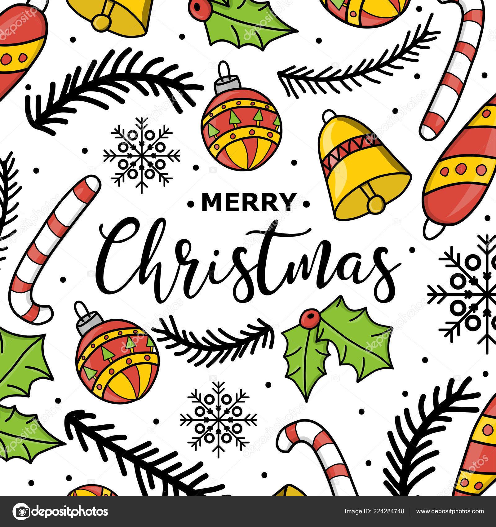 Decorazioni Di Natale Disegni.Anno Nuovo Natale Disegno A Mano Decorazione Di Capodanno Albero