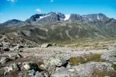 Photo scenery Besseggen ridge in Jotunheimen National Park, Norway