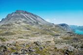 Fotografie Hřeben Besseggen v létě v národním parku Jotunheimen, Norsko