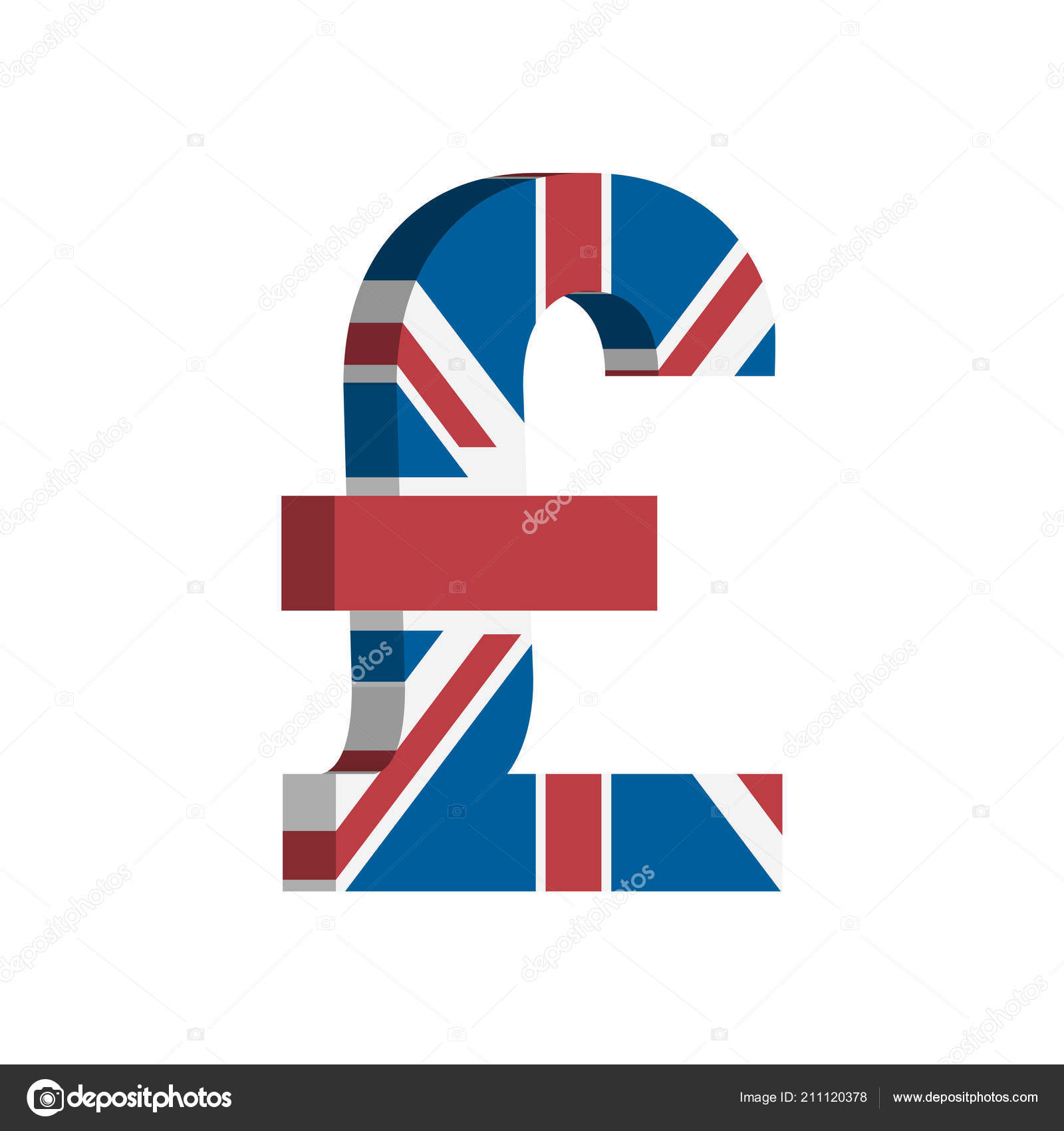 British Pound Gbp Currency Symbol Flag Vector