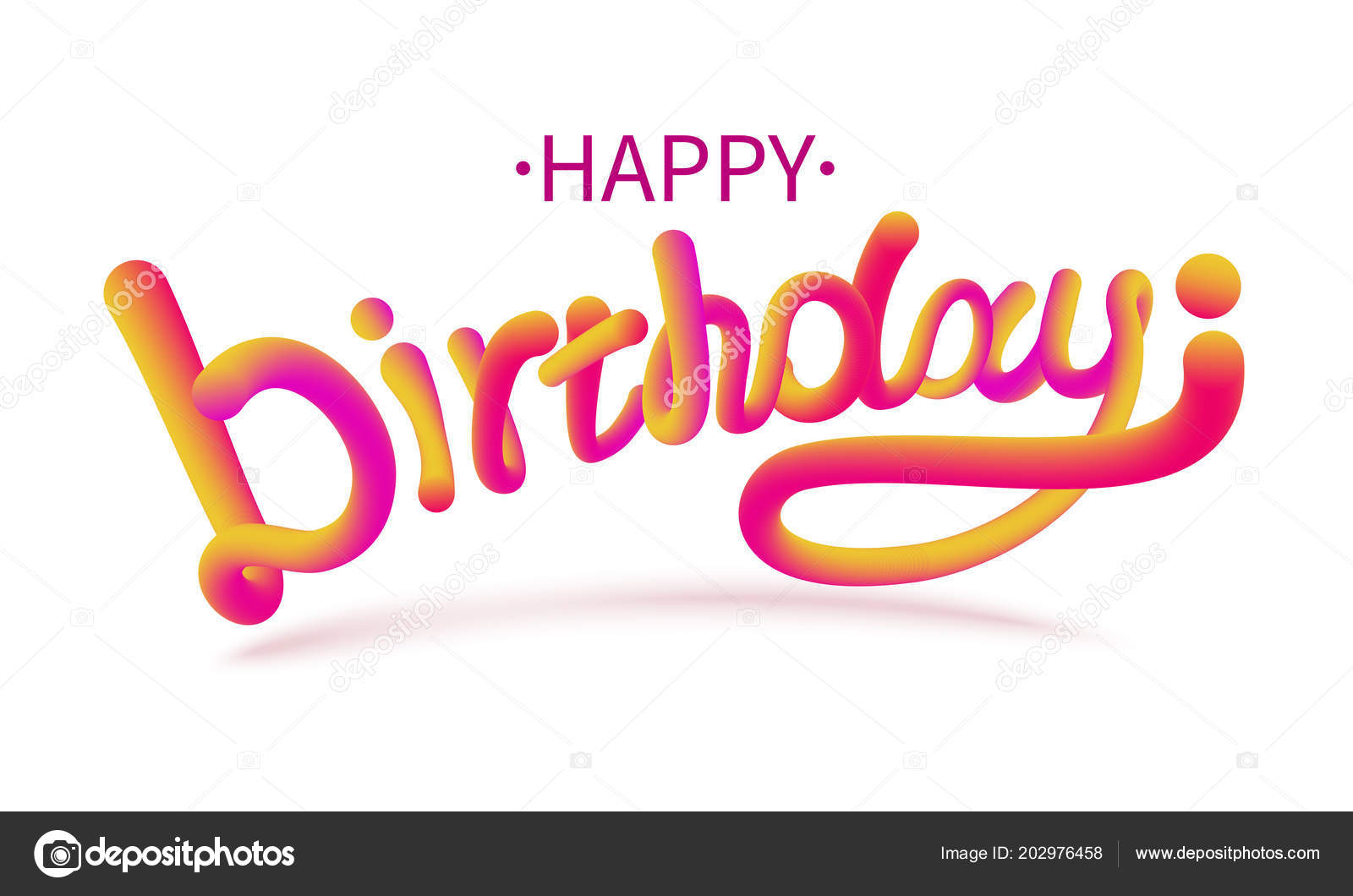 Images: happy birthday fonts | Stock vector illustration