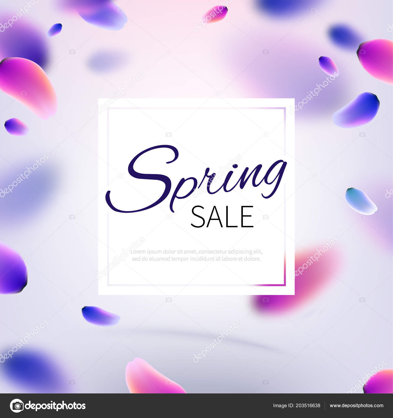 stock vector illustration hello hi spring sale realistic falling