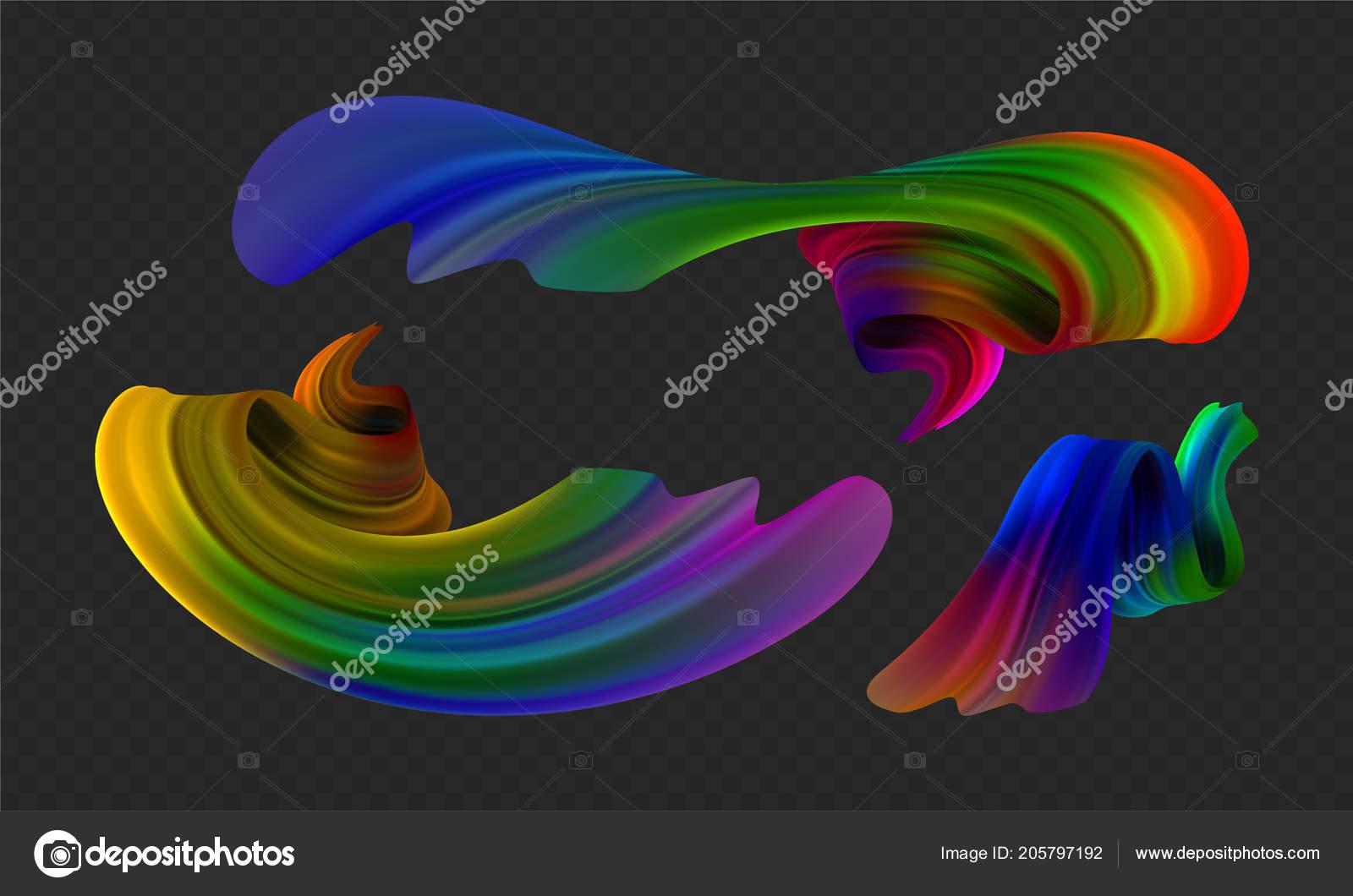 Illustration Vectorielle De Stock Multicolor Huile Réaliste