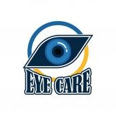 Oční klinika / oční kliniky / oftalmologii / optik logo s textem prostor pro váš slogan / slogan, vektorové ilustrace