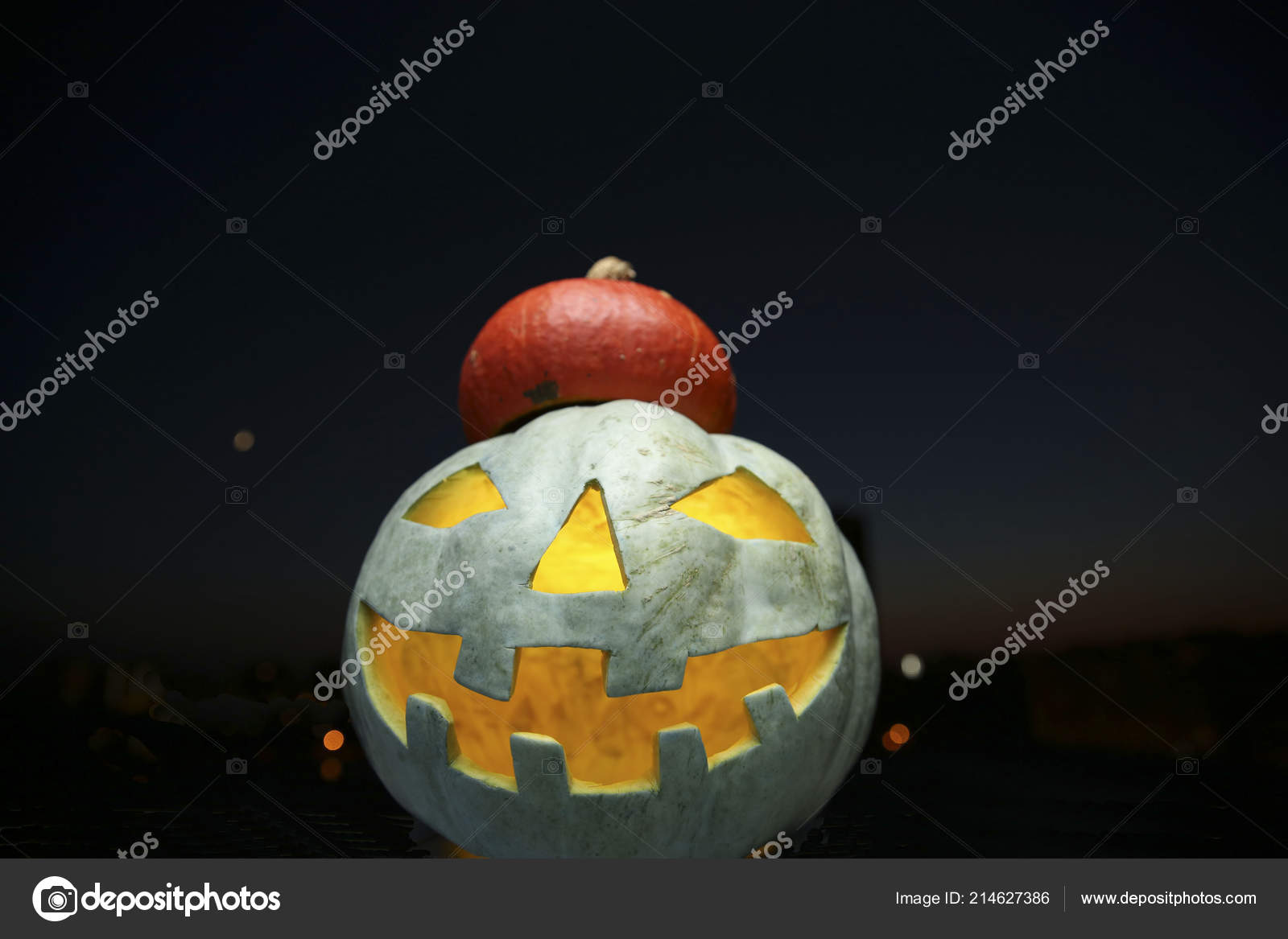 halloween jack lantern stock photo