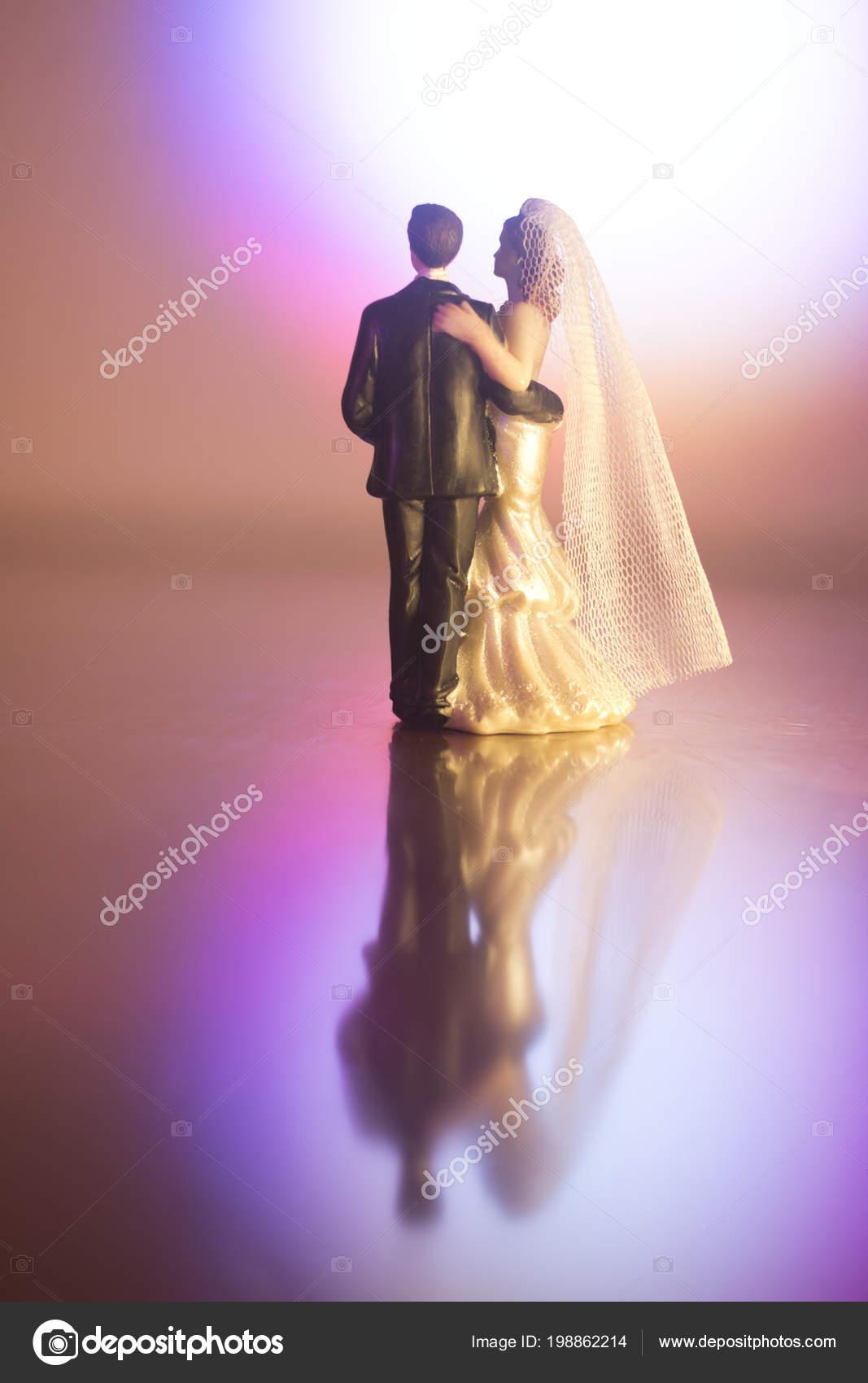 Boda Pareja Matrimonio Torta Topper Las Figuras Plásticas Con ...