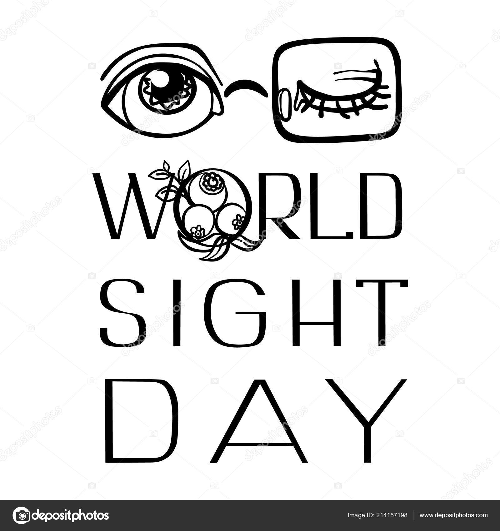 edee30222c0 National sight day concept background. Simple illustration of national  sight day vector concept background for web design — Vector by Nsit0108