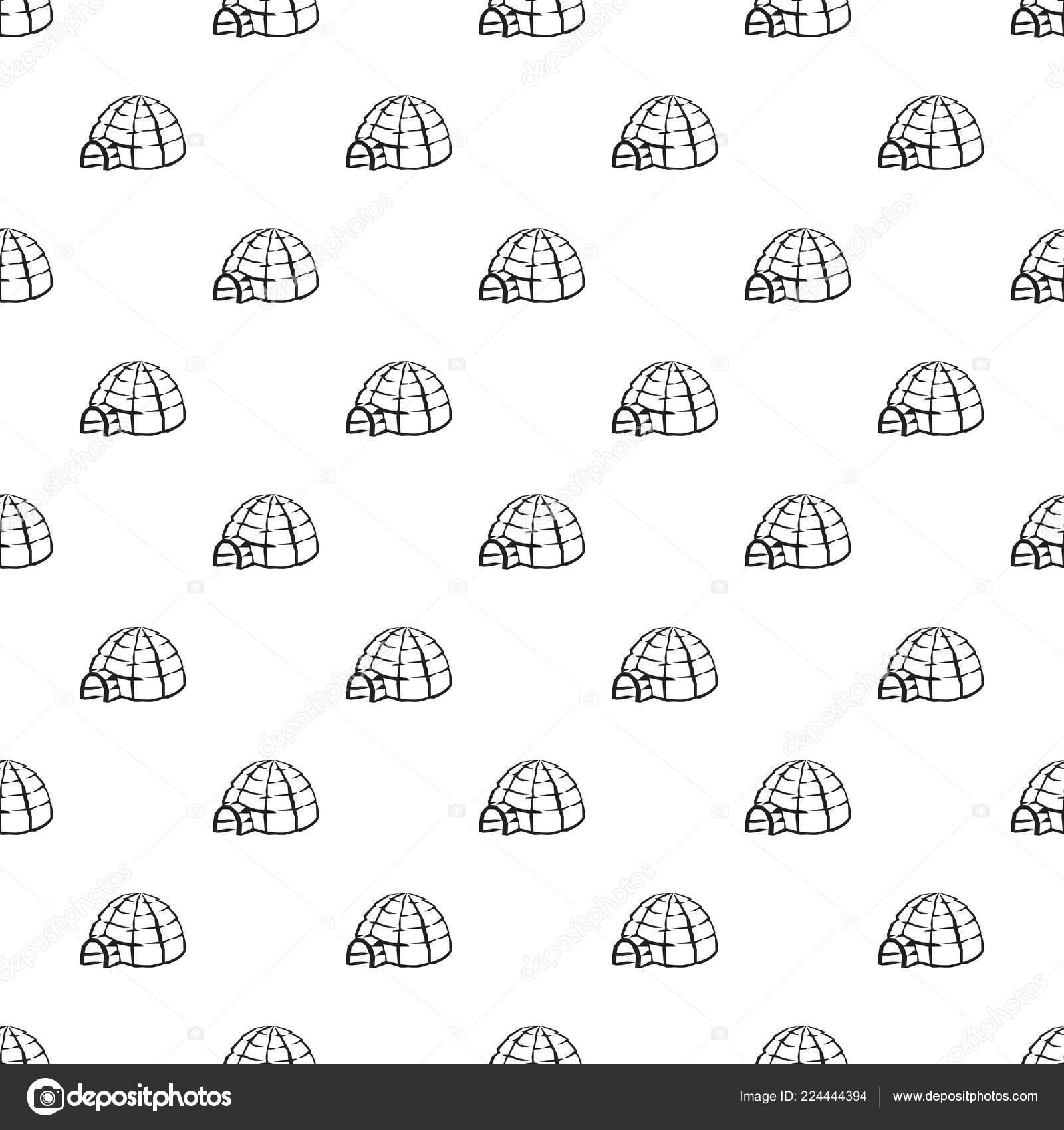 Patrón de iglú de Alaska sin costura — Vector de stock © Nsit0108 ...