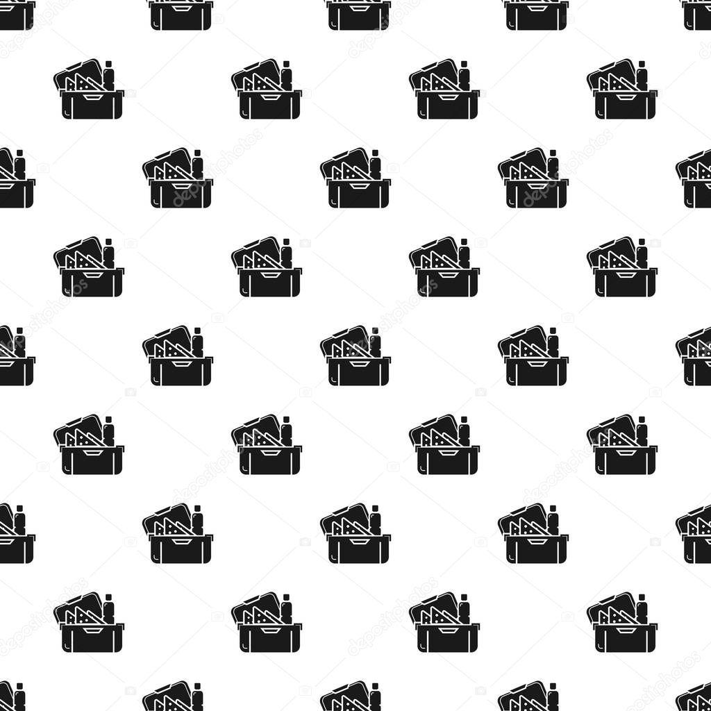 Big lunchbox pattern seamless vector