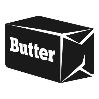 Briquette butter icon, simple style