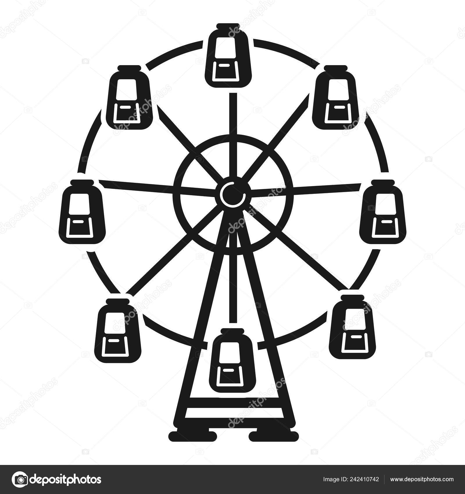 Ferris Wheel Icon Simple Style Stock Vector C Nsit0108 242410742