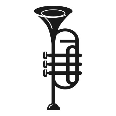 Band trumpet icon, simple style