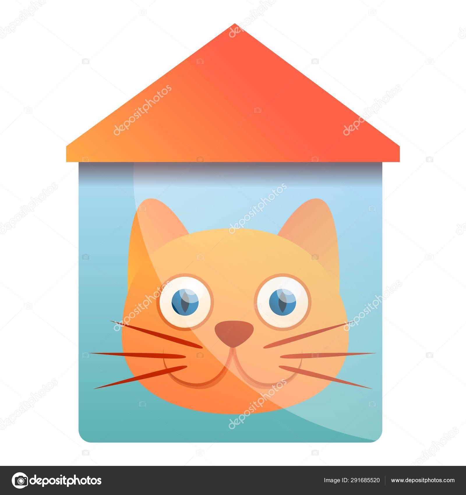 Outstanding House Cat Logo Cartoon Style Stock Vector C Nsit0108 Home Interior And Landscaping Synyenasavecom