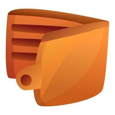 Wallet icon, cartoon style