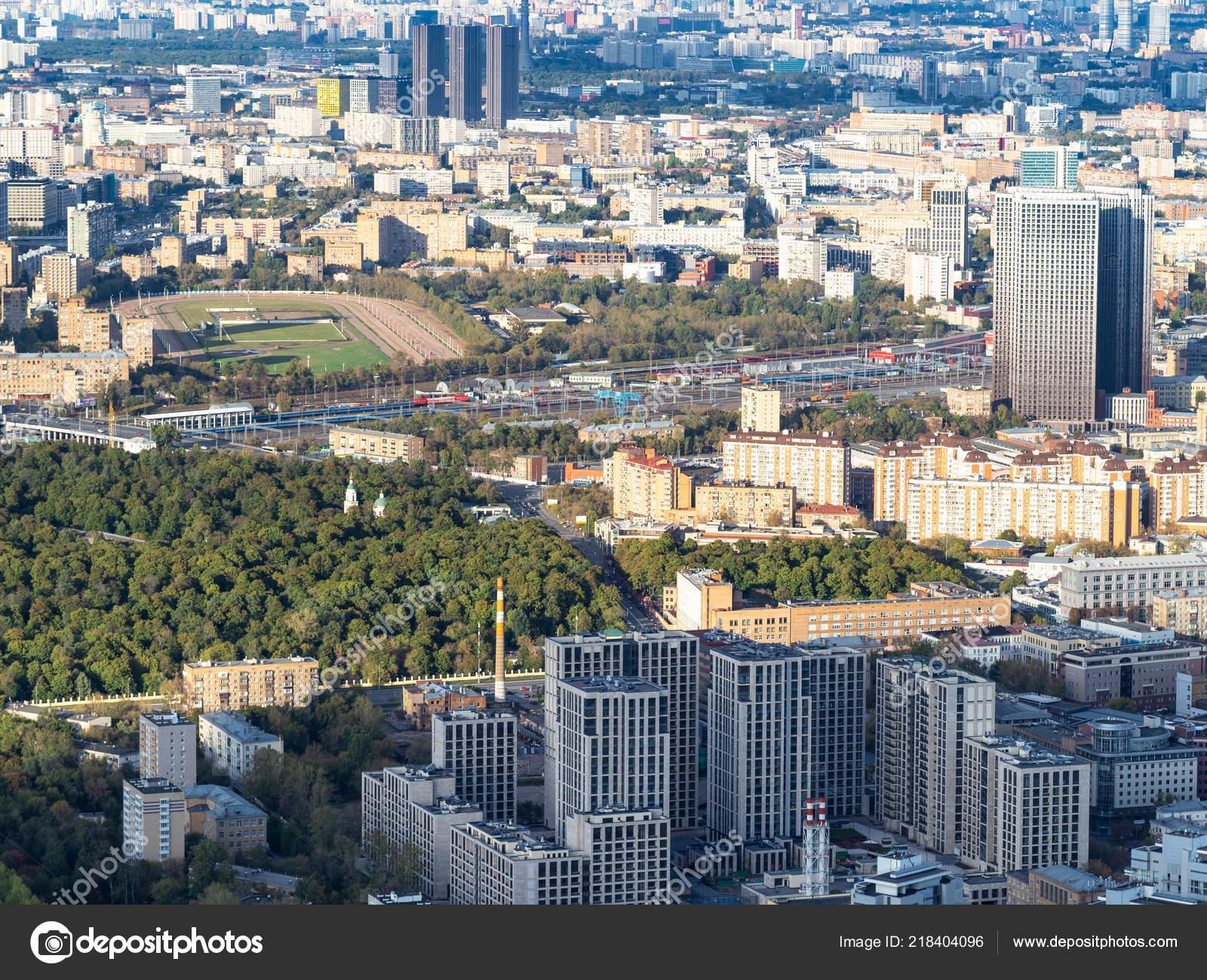 Vue Aérienne Des Quartiers Boegovoï Moscou Hippodrome