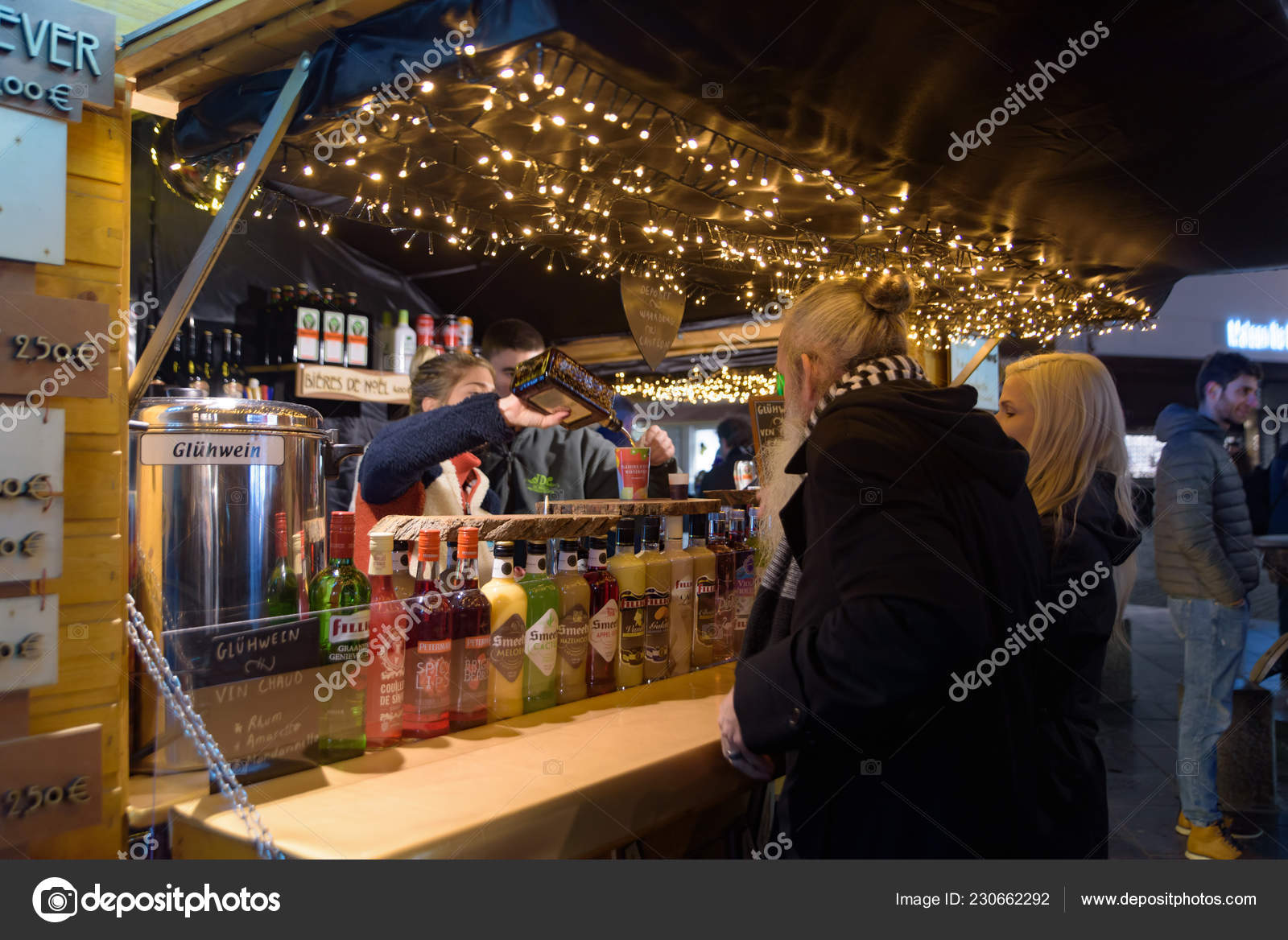 Mulled Wine Christmas Market.Vin Chaud Mulled Wine Stall 2018 Christmas Market Brussels