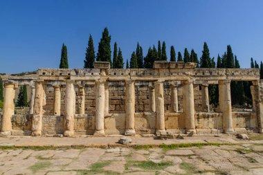 Ruins of Hierapolis, an ancient Greek city, at Pamukkale, Turkey
