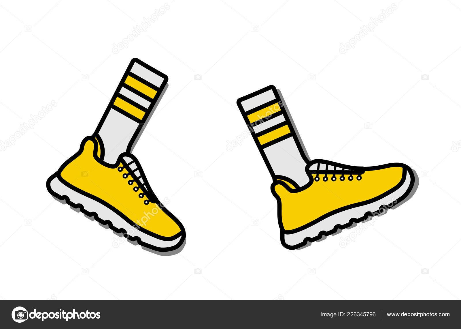 16101bce23c Vector εικονογράφηση εικόνα της αθλητικά παπούτσια (σπορτέξ ...
