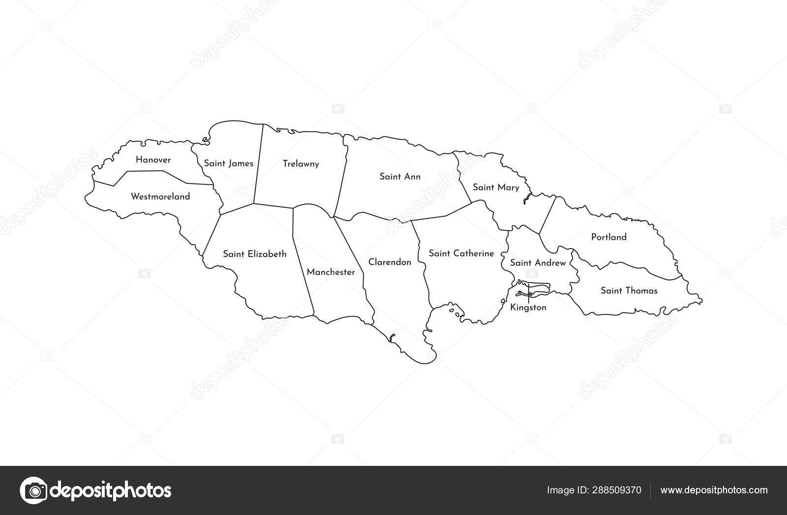 Vector isolated illustration of simplified administrative map of ...