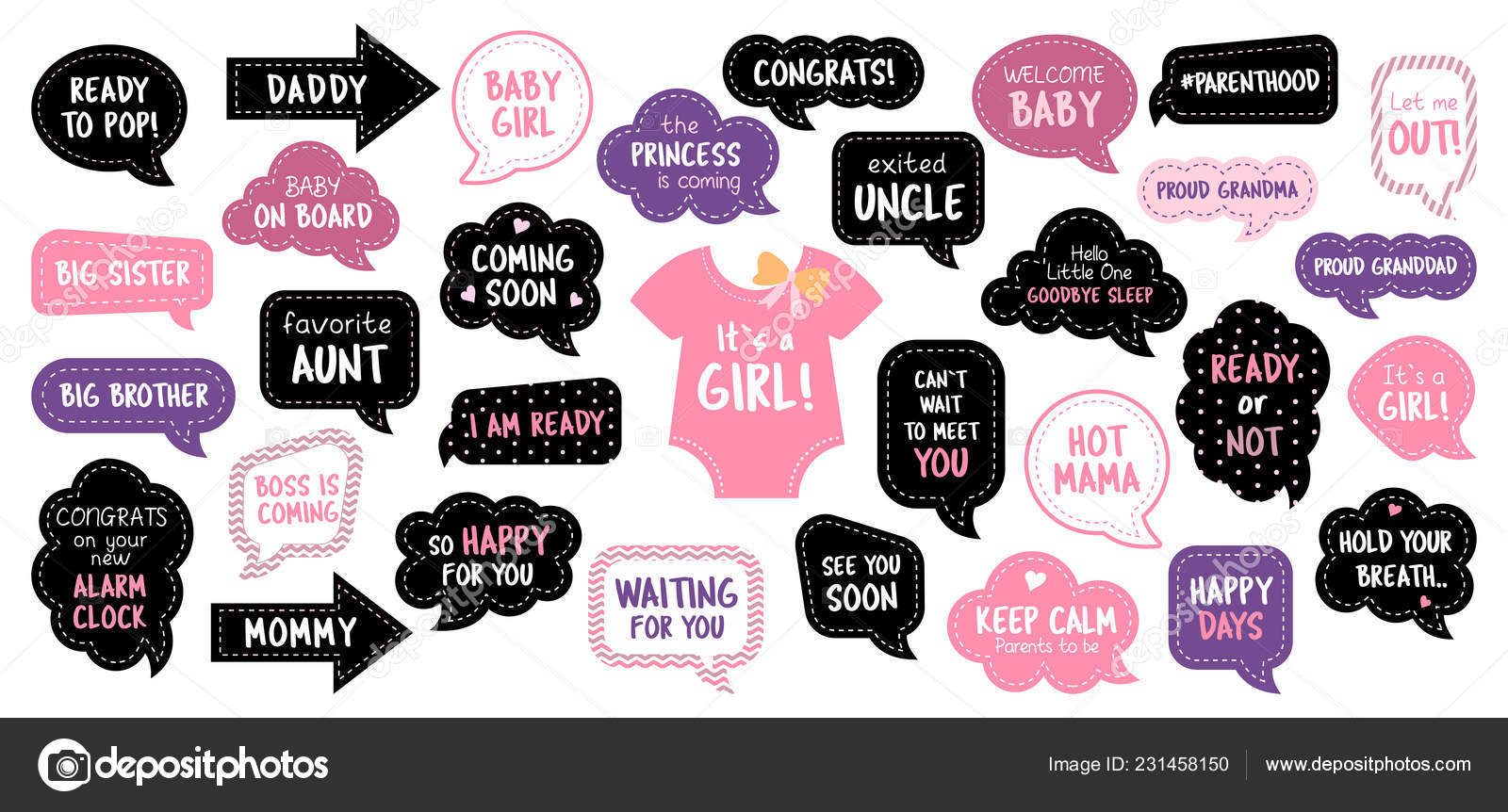 Baby Coming Soon Quotes Quotations Sayings 2019: Bebé Ducha Foto Stand Photobooth Accesorios Set