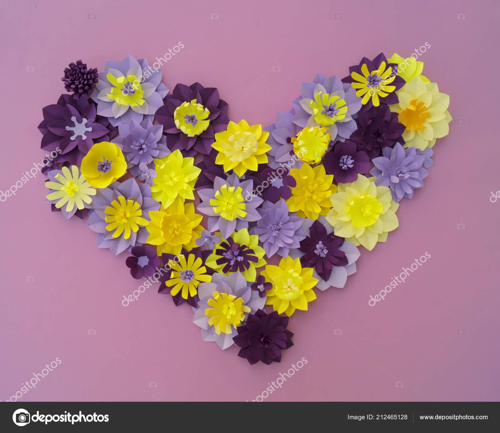 Das Papiermodell Blume Deko Konzept Blüten Und Blätter