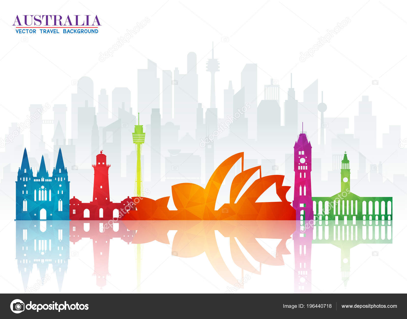 Australia Landmark Global Travel And Journey Paper Background Vector Design Templateused For Your Advertisement Book Banner Template Business