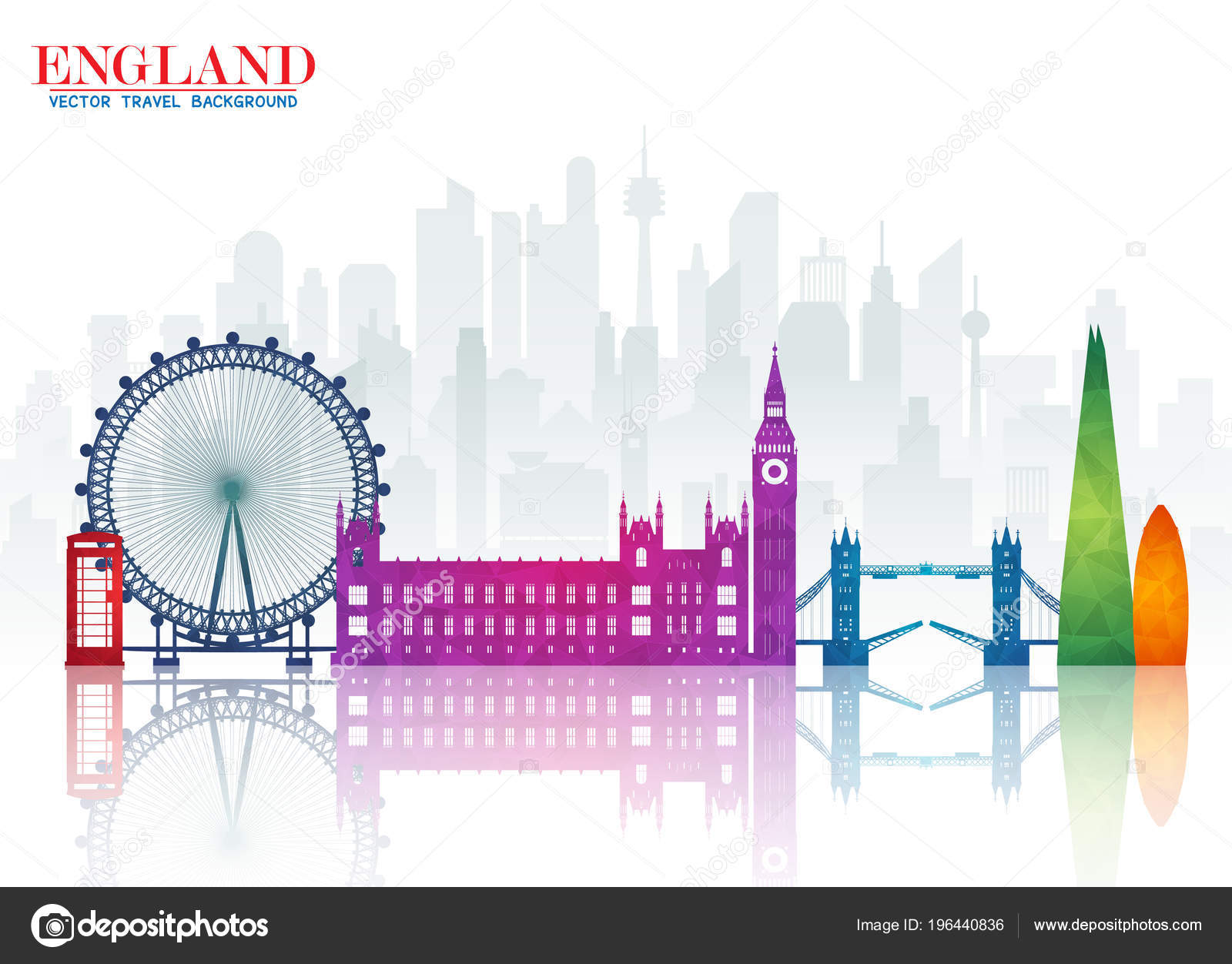 England Landmark Global Travel And Journey Paper Background Vector Design Templateused For Your Advertisement Book Banner Template Business Or