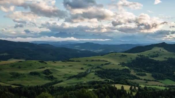 Timel zánik letní krajina v horách - Pieniny / Tatry, Slovensko