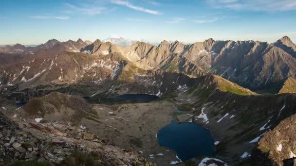 Horská krajina na léto v Tatrách, časová prodleva
